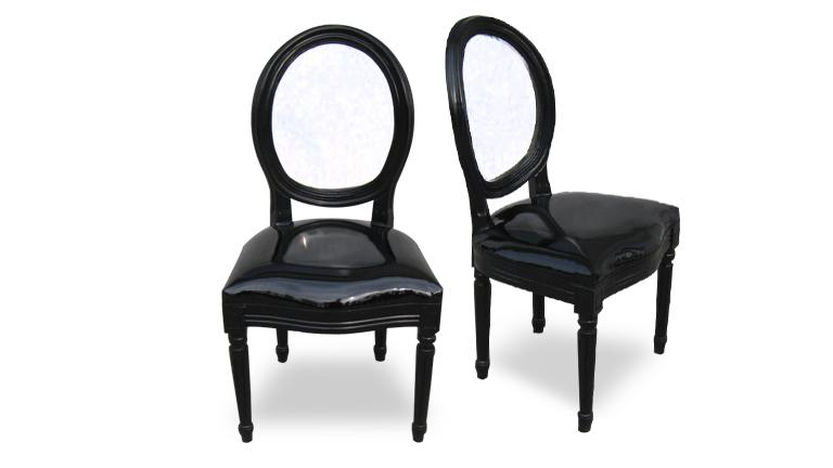 chaise transparente baroque marie antoinette mobilier moss. Black Bedroom Furniture Sets. Home Design Ideas
