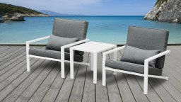 lot 2 fauteuils table basse aluminium blanc teapa 3 mobiliermoss