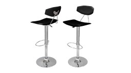 lot 2 tabouret cuisine noir cholley mobiliermoss