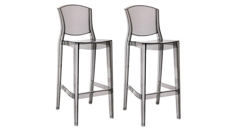 lot de 2 tabourets de bar design en plexi hauteur d 39 assise 74 cm lotsu mobilier moss. Black Bedroom Furniture Sets. Home Design Ideas