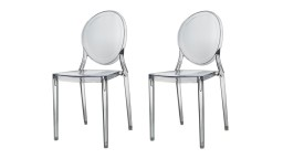 lot 2chaises plexi transparent magwa mobiliermoss