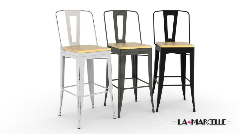 Affordable Lot Tabourets Metal La Marcelle Assise Cm With Chaise Pour Ilot  De Cuisine