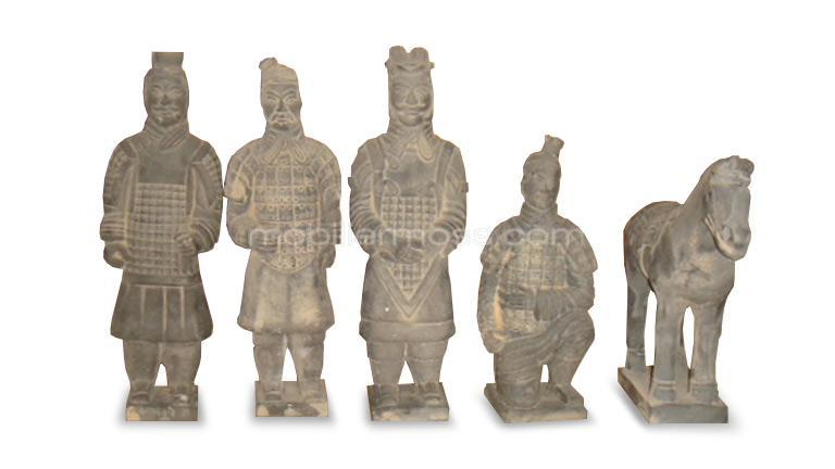 lot de 5 staue kong chevalier chinois mobiliermoss