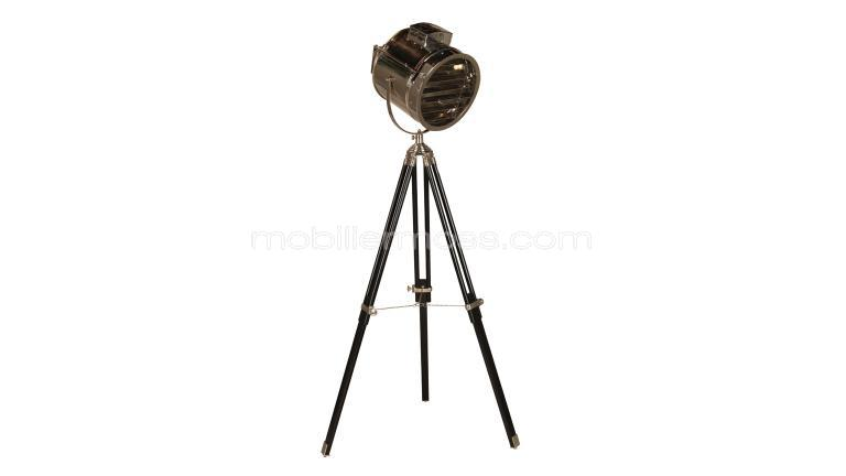 Lampadaire style cin ma tripode movies mobilier moss for Lampe projecteur cinema sur trepied