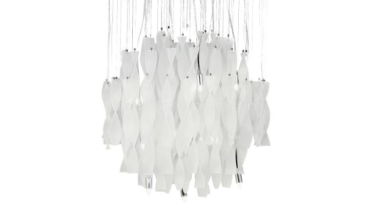 Lustre design pamprilles verre poli spirit moderne suspension