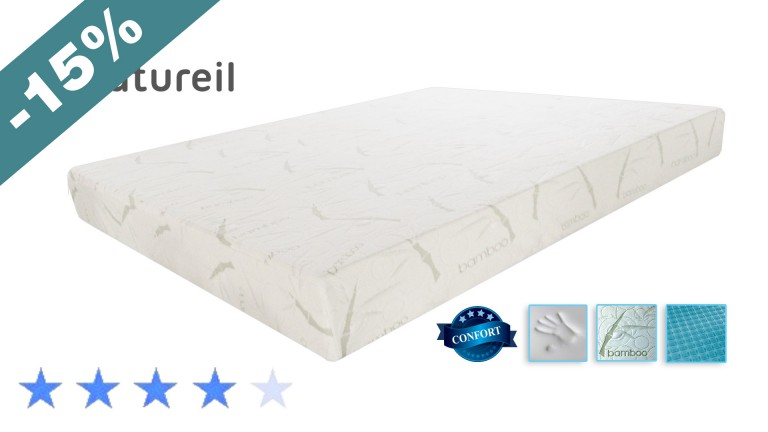 matela memoire de forme natureil night ampl blanc