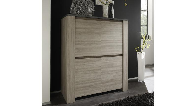 meuble de rangement eblano 4 portes en bois mobilier moss. Black Bedroom Furniture Sets. Home Design Ideas