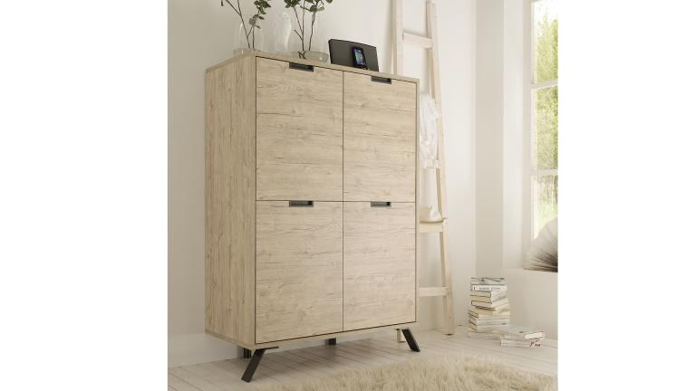attrayant meuble rangement scandinave salon design 4portes nekho 2 mobiliermoss