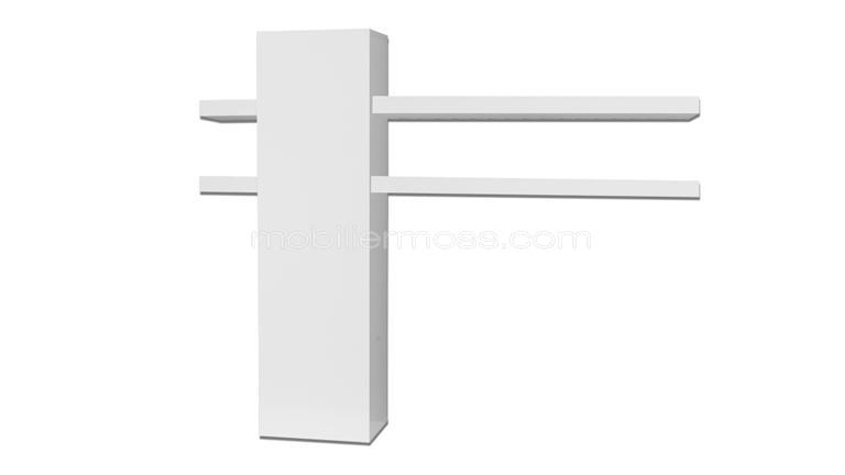 Atract l ment suspendu quatres tablettes blanc laqu for Meuble tv blanc laque suspendu