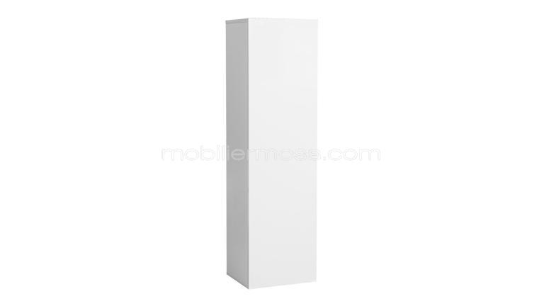 Atract grand l ment blanc laqu suspendu design for Une porte biens meuble ou immeuble