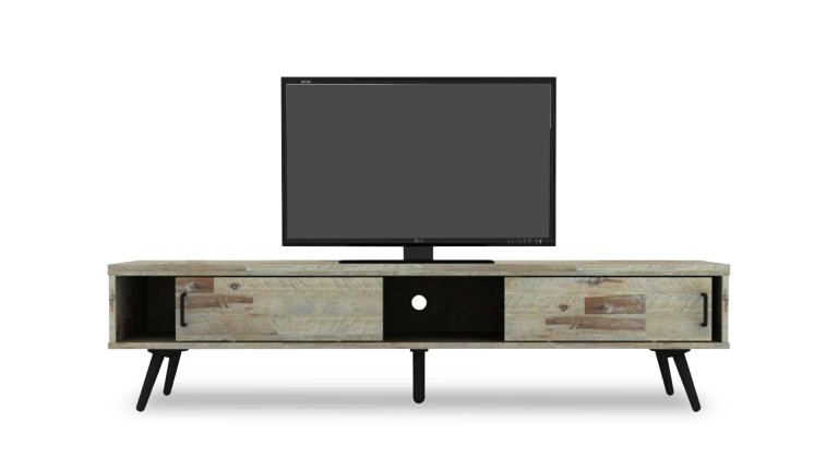 meuble tv bodenn en bois massif d 39 acacia mobilier moss. Black Bedroom Furniture Sets. Home Design Ideas