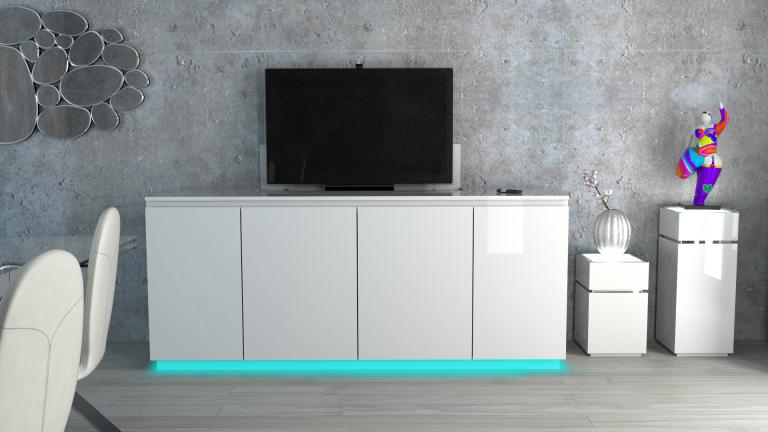 bahut avec ascenseur tv buffet elevateur tv niel mobilier moss. Black Bedroom Furniture Sets. Home Design Ideas
