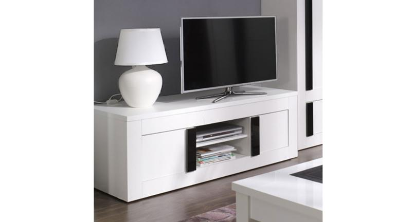 meuble tv blanc hauteur 60 cm meuble de salon contemporain. Black Bedroom Furniture Sets. Home Design Ideas