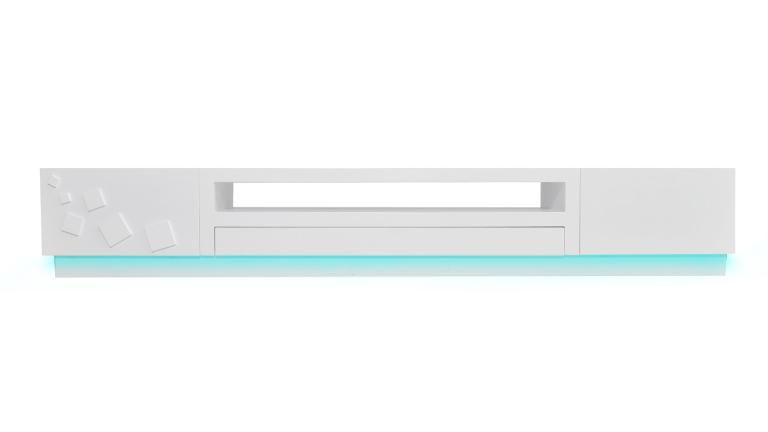 meuble tv laque blanc led bleu quadrat mobiliermoss
