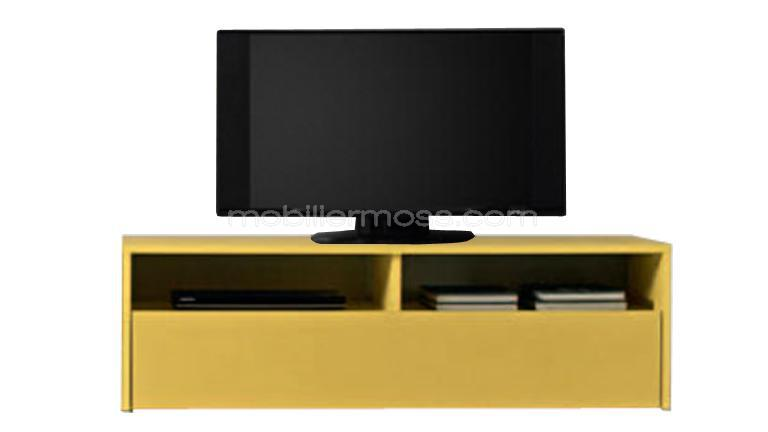 meuble tv ox color jaune mobilier moss