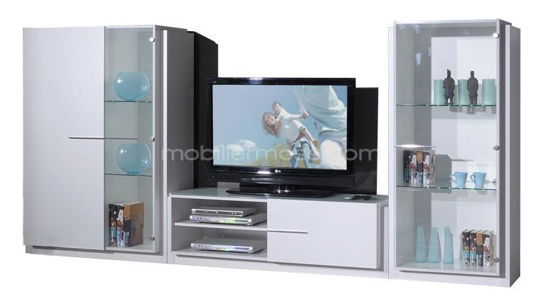 Meuble tv living solutions pour la d coration int rieure for Meuble living blanc