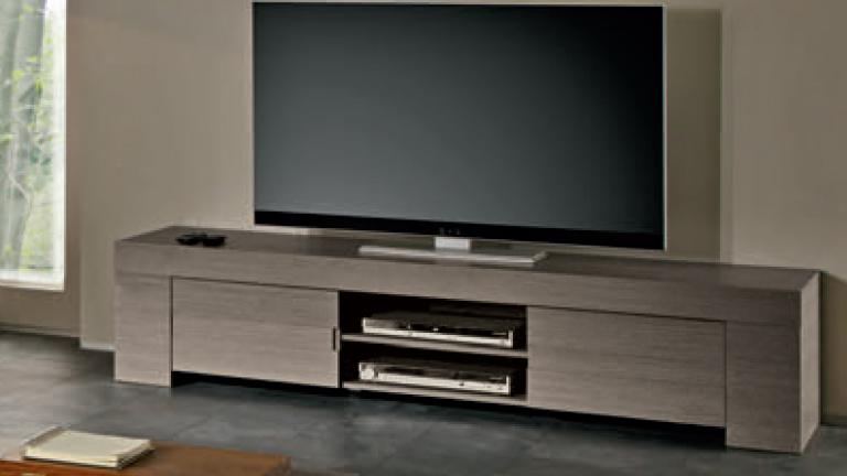 Meuble tv olgano design en bois 190 cm mobilier moss for Meuble tv grand ecran