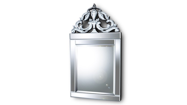 Miroir rectangulaire baroque attessa mobilier moss for Miroir definition