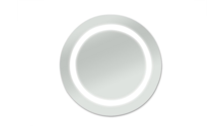 miroir halo rond cercle luminaire integrer moderne allume