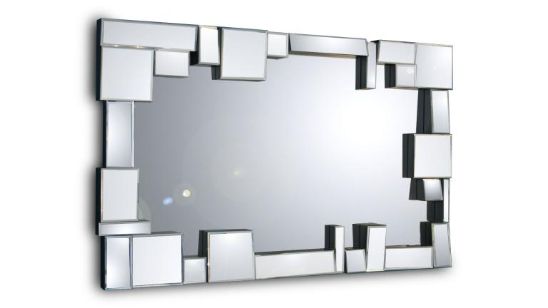 Belina un grand miroir mural au design moderne mobilier for Grand miroir rectangulaire