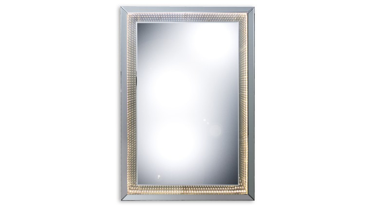 miroir rectangulaire eclairage led infini blanc tocoa mobiliermoss