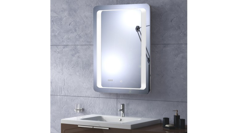 miroir salle de bain tablet avec led et horloge mobilier moss. Black Bedroom Furniture Sets. Home Design Ideas
