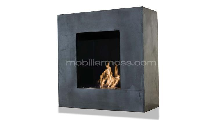 chimenea bioetanol cube hormig n encerado su chimenea bio ethanol dise o. Black Bedroom Furniture Sets. Home Design Ideas
