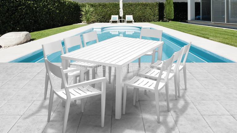 Emejing Table Jardin Ovale Aluminium Pictures - Awesome Interior ...