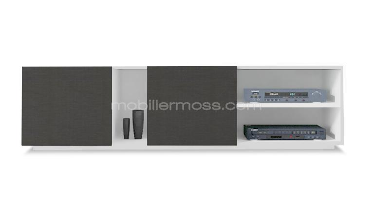 oraly meuble tv blanc gris mobiliermoss