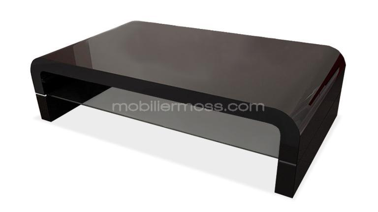 Mobiliermoss com silestone table basse design verre noir - Table basse noir laque ikea ...