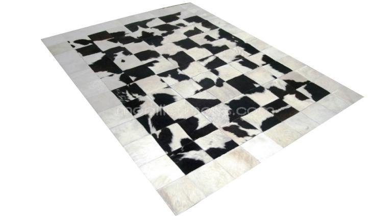 piel de vaca alfombra de piel de vaca patchwork krista. Black Bedroom Furniture Sets. Home Design Ideas