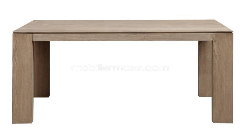 Table de s jour extensible en bois cleveland mobilier moss for Table rectangulaire a rallonge