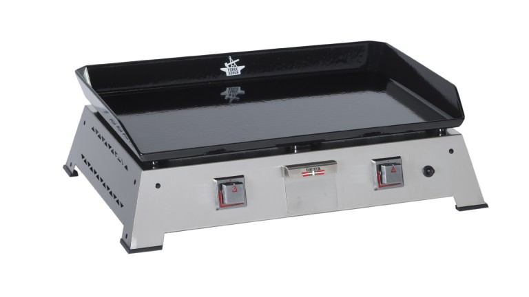 plancha fonte emaillee forge adour chassis inox baiona 600 mobiliermoss