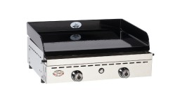 plancha fonte emaillee forge adour chassis inox iberica 600 mobiliermoss