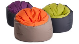 pouf bicolore design jumbo bag mobiliermoss
