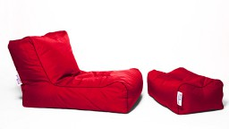 pouf repose pied jumbo bag rouge mobiliermoss
