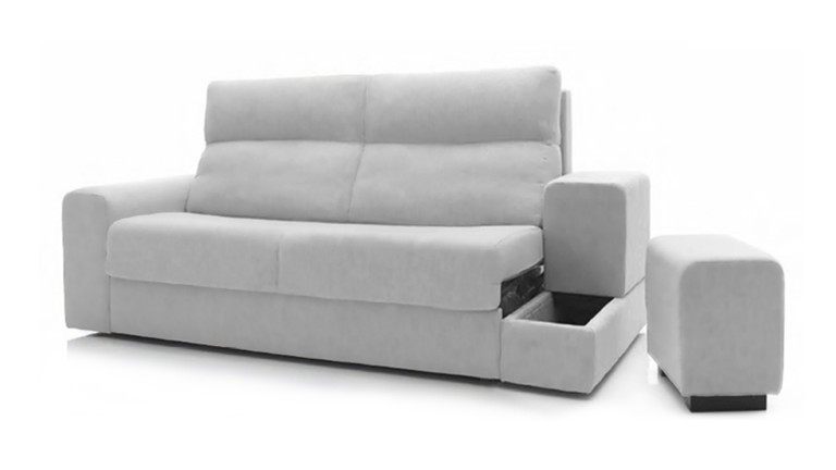 Canap lit 2 places avec rev tement en microfibre reloto mobilier moss - Canape convertible definition ...