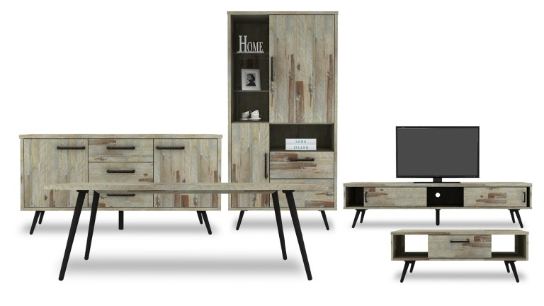 composez votre salle manger compl te bodenn en bois massif d 39 acacia mobilier moss. Black Bedroom Furniture Sets. Home Design Ideas