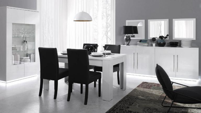 salle manger blanc d co sphair. Black Bedroom Furniture Sets. Home Design Ideas