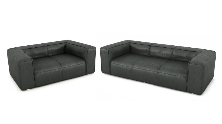 salon 3 2 places microfibre morys gris97 mobiliermoss