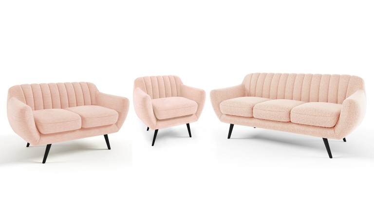salon 321 scandinave capitonne tissu rose79 azari mobiliermoss