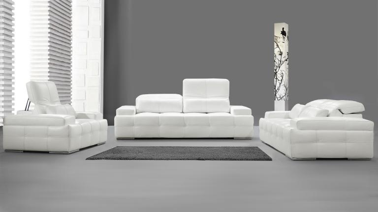 canape cuir blanc design maison design. Black Bedroom Furniture Sets. Home Design Ideas