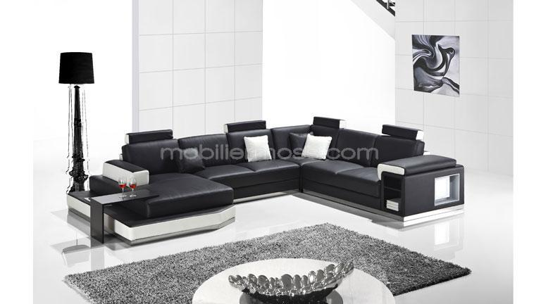 Salon cuir moderne design avec des id es for Salon canape design