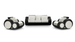 salon canape cuir relax salon311 blanc noir pierce mobiliermoss