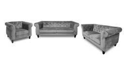salon chesterfield velours N68gris 321places eriko mobiliermoss