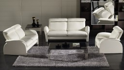 salon cuir 2canapes 1 fauteuil relax blanc napolia face mobiliermoss