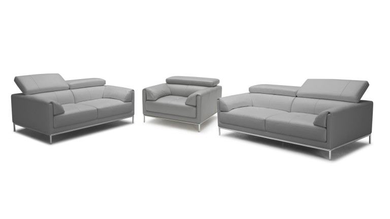 salon cuir 321 dossier relevable gris5503 oppland mobiliermoss