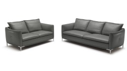 salon cuir 3places 2places anthracite 9019 halden mobiliermoss