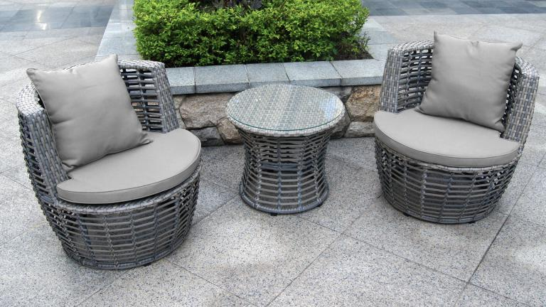 Ensemble salon de jardin moderne Valina 2 fauteuils + table basse ...
