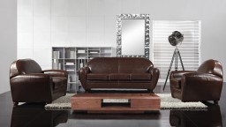 salon jazzy style club design cuir bycast choco design mobilier moss